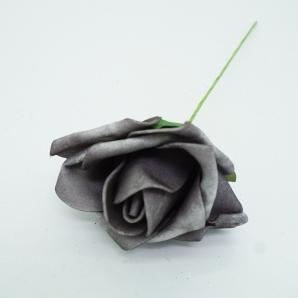 Foam-Rose grau Ø6cm 27Stk