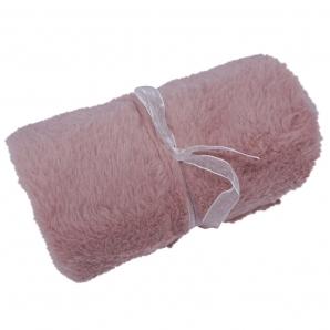 Plüschstoff rosa 15cmx200cm 1Stk