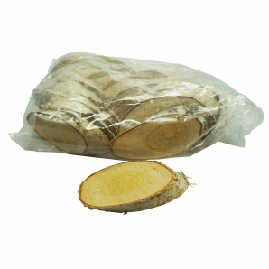 Birkenscheiben oval 13-16cm 10Stk