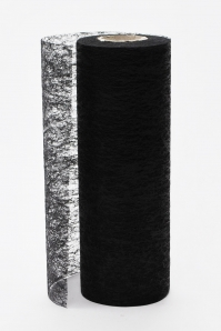 Deko-Vlies schwarz 23cm 25m