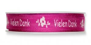 Schrift Dekoband Vielen Dank pink 10mm18m