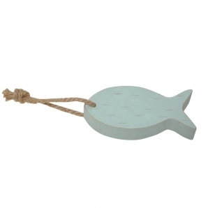 Deko-Fisch hellgrün 15x6,5cm 4Stk