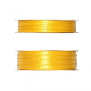 Doppel Satinband gelb 50m in zwei Größen