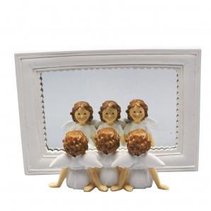 Engel mit Spiegel 20x6x15cm 1Stk