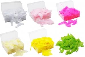 Federn kurz in verschiedenen Farben 24g 1Box