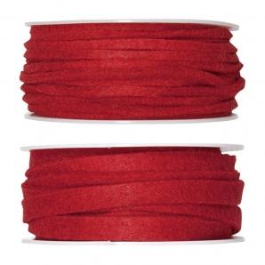 Filzband rot in zwei Größen
