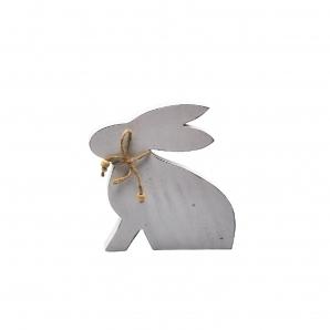 Hase aus Holz weiß 24x21 1Stk