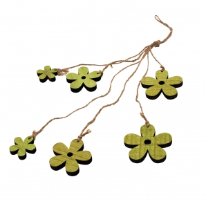 Holzblüten sortiert grün 24Stk
