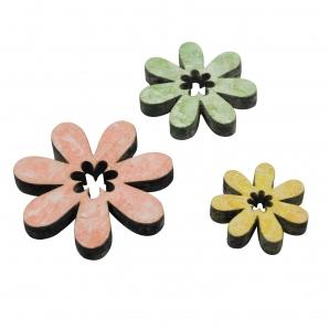 Holzblüten pastell 3-5cm 14Stk