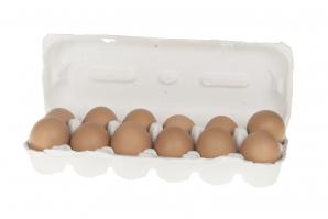 Echte Hühnereier braun 6cm 12Stk
