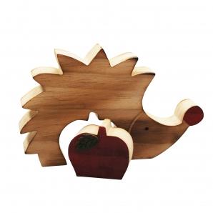 Igel mit Apfel natur 6Sets