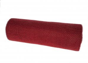 Jute Tischband kaminrot 30cm10m