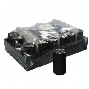Kerzen schwarz 10x5cm 24Stk