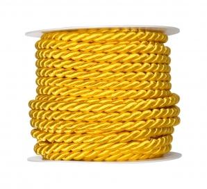 Kordelband gelb 6mm10m --Auslaufartikel--