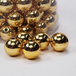Perlen Ø20mm gold metallic  300g  ca.72Stk