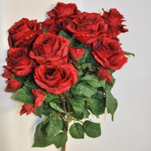 Rosentrauß mit 15 Blüten h:57cm