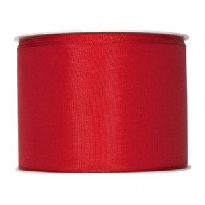 Satinband rot 75mm x 25m