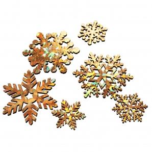 Eiskristalle gold 4,5cm 37Stk