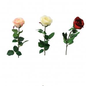 Seidenrosen gefüllt Ø8cm langstielig in verschiedenen Farben