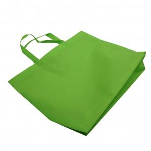 Tasche mit Bodenfalte apfelgrün 36x46x10cm 24Stk