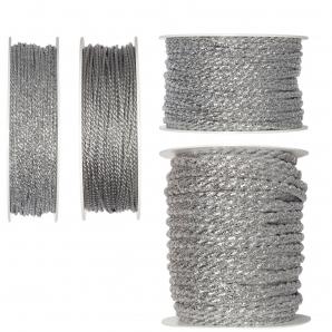 Silberkordel in 4 Stärken