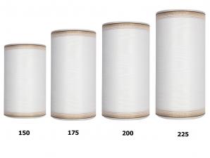 Kranzband weiß mit Goldrand in verschiedenen Breiten  25m auf der Rolle
