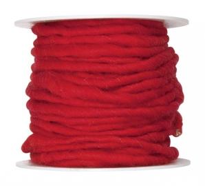 Wollschnur Wollband rot 5mm10m