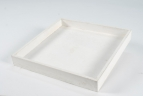 Holztablett weiß 30x30cm 1Stk