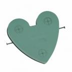 Oasis® Auto Herz mit Steckschaum für Frischblumen und Saugnapf (Vakkumsauger) für die Hochzeitsfloristik am Auto 40x42cm(1St)