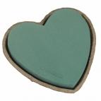 Oasis® Herz mit Steckschaum für Frischblumen und Biolit® Unterlage 25cm(4St)
