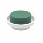 Oasis® Gesteckschale für die Tischdeko mit Steckschaum für Frischblumen JUNIOR COMPLET 5x12cm(12St)