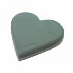 Oasis® Ecobase® Herz mit Steckschaum, Hartschaumunterlage und Aufstellhölzern 29x30x4,5cm(2St)