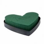 Oasis® Herz mit Steckschaum und Kunststoffunterlage 16x16,5x3cm(4St)