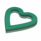 Oasis® Herz mit Steckschaum und Hartschaumboden Ecobase® fürs Auto offen 37,5x38x4,5cm(2St)