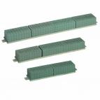 Oasis® Sargauflage für den Sargschmuck mit Steckschaum und Klebeband Raquette Bioline® 100x12,5x8,5cm(1St)