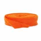 Wollband Lehner Wolle orange hell 7,5cm5m