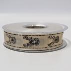 Weihnachtsband Elche braun 25mm20m