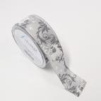 Weihnachtsband Hirsch grau 40mm20m
