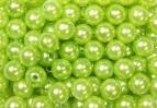 Perlen apfelgrün Ø010mm 115Stk