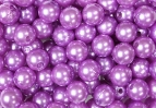 Deko Perlen violett Ø10mm 115Stk