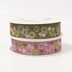 Blüten Dekoband Streublumen in zwei Farben 25mm20m
