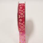 Blüten Dekoband Gänseblumen pink 15mm20m