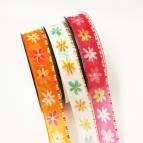 Blüten Dekoband Strohblumen in drei Farben 25mm20m