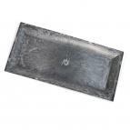 Longo / Dekoteller Kunststoff  länglich anthrazit 36x17cm