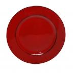 Platte / Dekoteller rund glänzend rot 28cm 1Stk