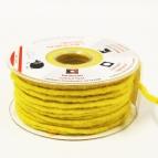 Dochtfaden Wollschnur Wollfilz gelb 5mm35m