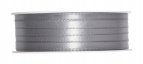 Doppel Satinband grau 6mm50m
