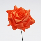 Foam-Rose orange Ø10cm 8Stk