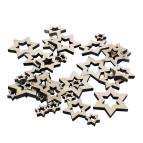 Holzsterne natur 3fach sortiert 36Stk