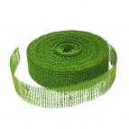 Juteband waldgrün 50mm40m